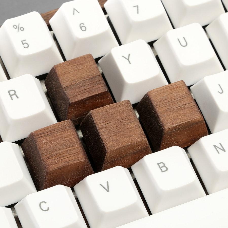 Mechanicallee Keyboards Wood Keycaps (4-Pack)