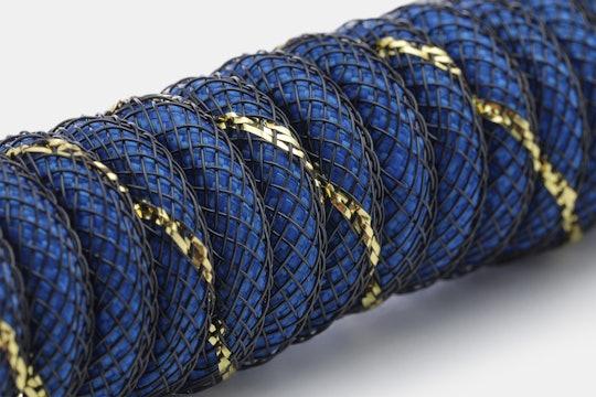 Mechcables Blue Samurai Custom Coiled Aviator USB Cable