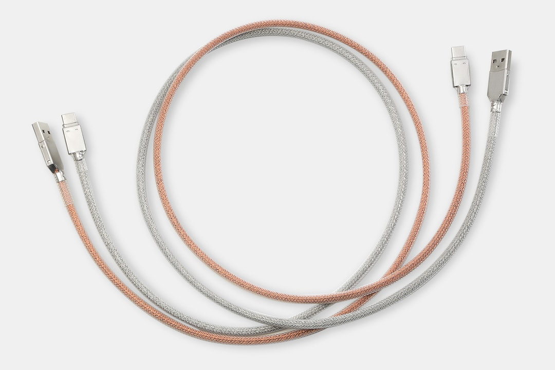 Mechcables Metallic Copper Custom-Sleeved USB Cable