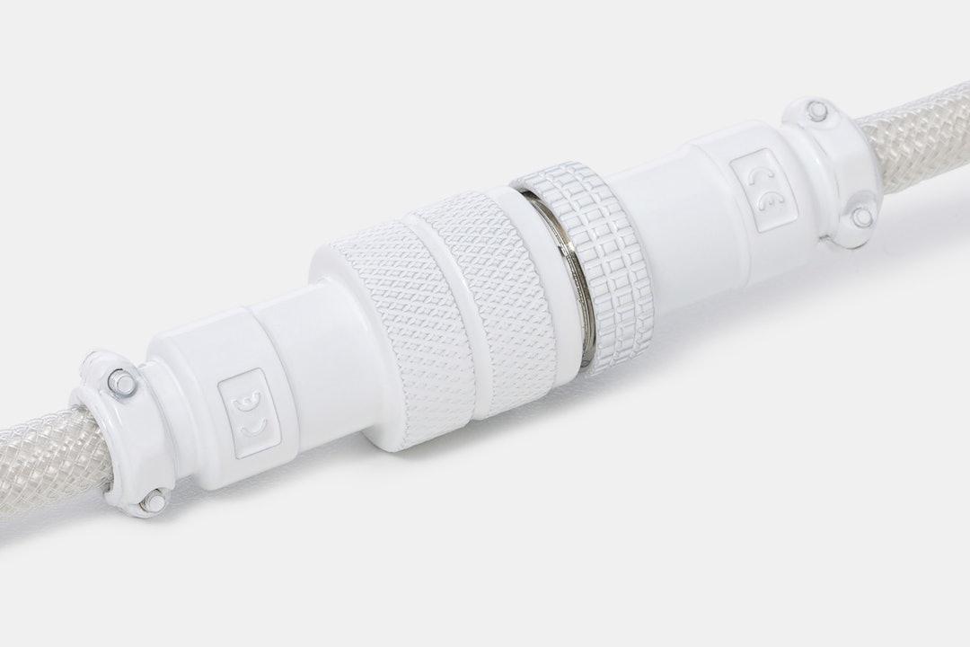 Mechcables Cream Custom Coiled Aviator USB Cable