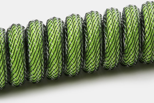 Mechcables Green Screen Custom-Sleeved USB Cable
