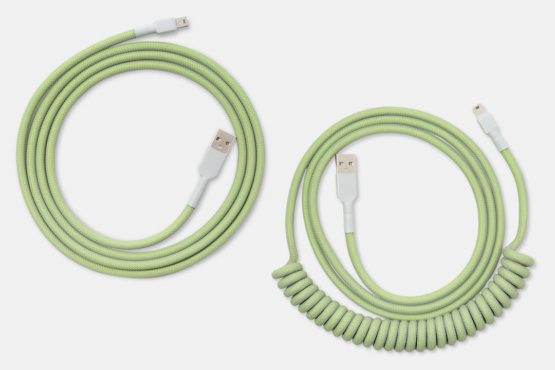 Mechcables Lime Custom-Sleeved USB Cable