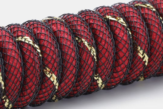 Mechcables Red Samurai Custom Coiled Aviator USB Cable