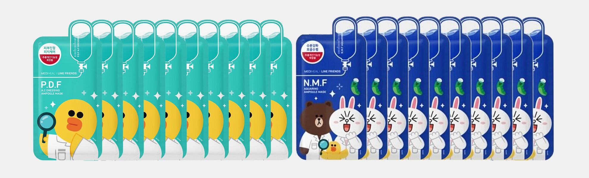 Mediheal Line Friends Ampoule Masks (20 Sheets)