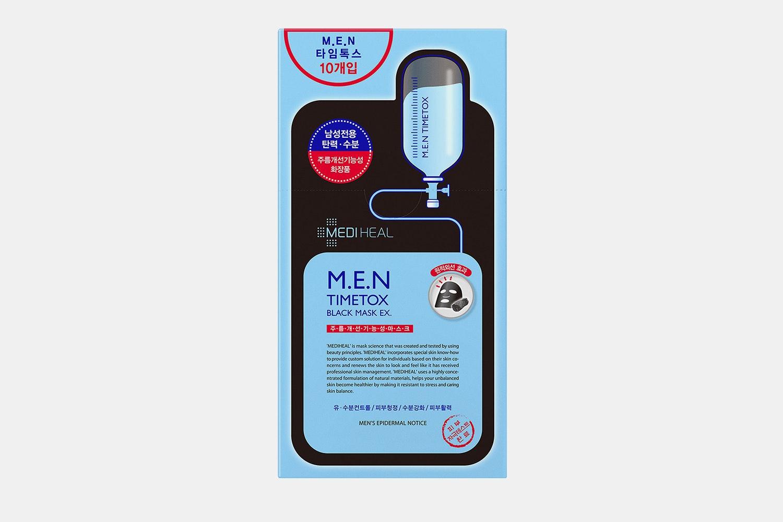 Mediheal M.E.N. Timetox Black Mask EX (10-Pack)
