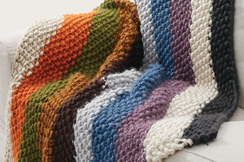 Seed Stitch Blanket