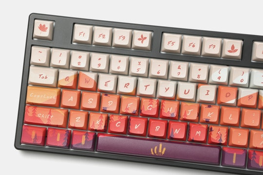 Mellow Sunset PBT All Over Dye-Subbed Keycap Set