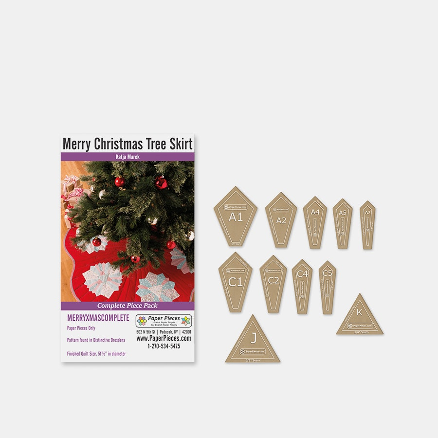 Merry Christmas Tree Skirt Paper-Piece Bundle | Price & Reviews ...