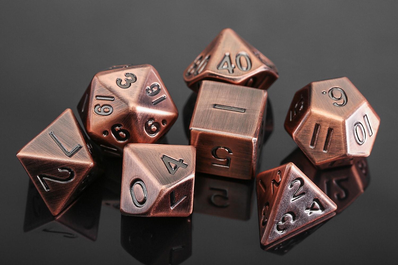 Metallic Antique Copper 16mm Dice Set