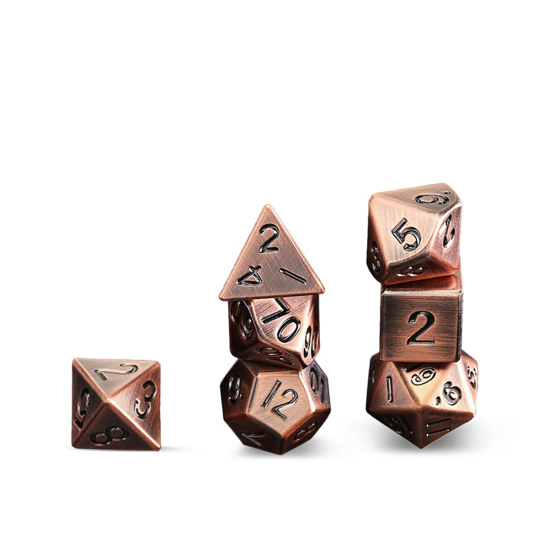 Metallic Antique Copper 16mm Dice Set