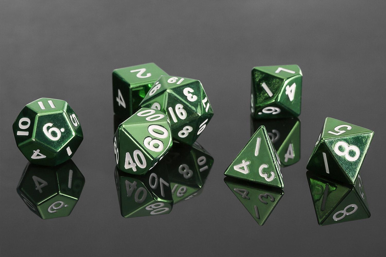Metallic Dice Games 16mm Metallic Polyhedral Set