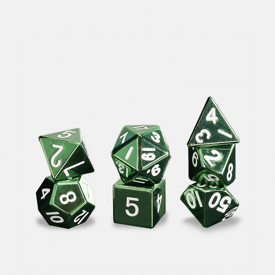 Metallic Dice Games 16mm Metallic Polyhedral Set