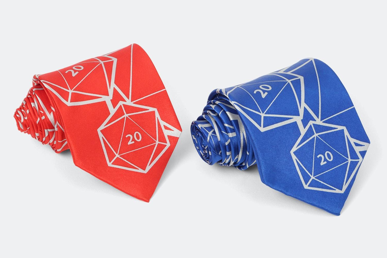 Metallic Dice Games D20 Neck Tie (2-Pack)