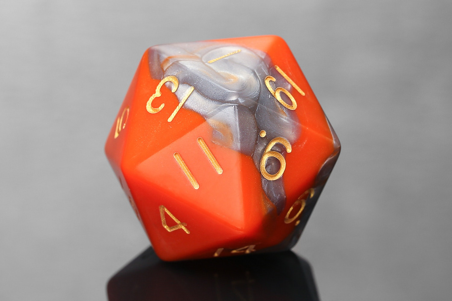Orange/Brown with Gold Numbers