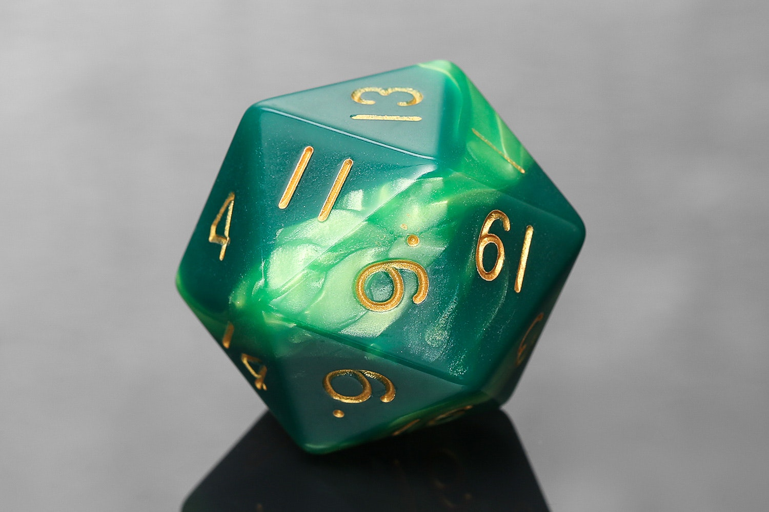 Green/Light Green with Gold Numbers