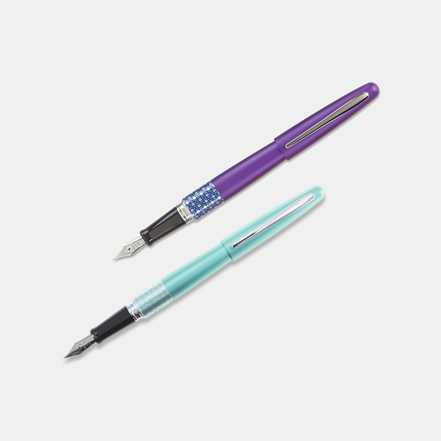 Pilot Metropolitan Retro Pop Fountain Pen (2-Pack)