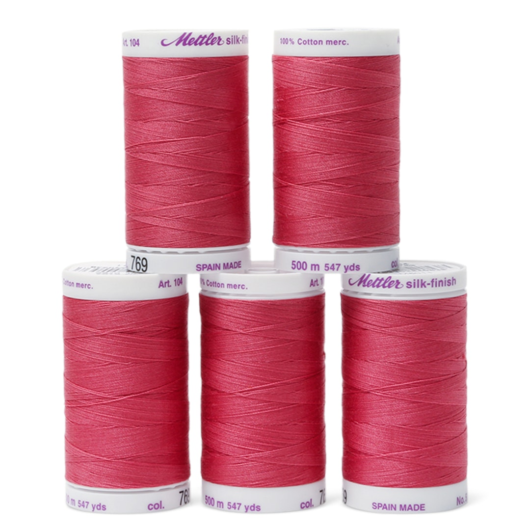Mettler Silk Finish Cotton Thread Box (5-Count)