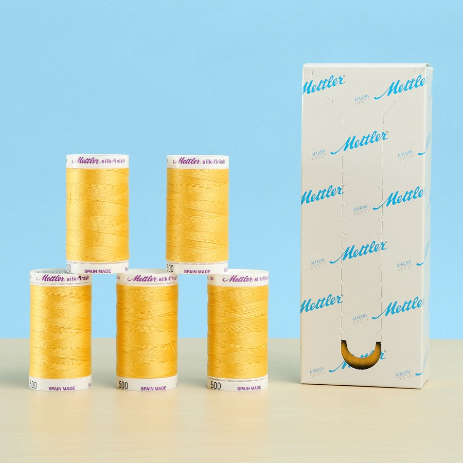 Mettler Silk Finish Cotton Thread Box of 5