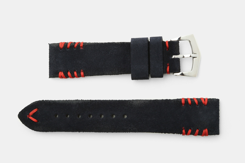 Milano Straps Tribal-Stitch Suede Watch Straps
