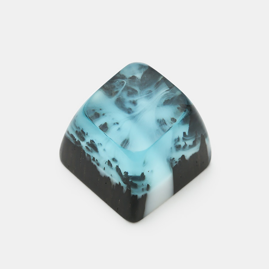 Mini Iceland Wood & Resin Artisan Keycaps