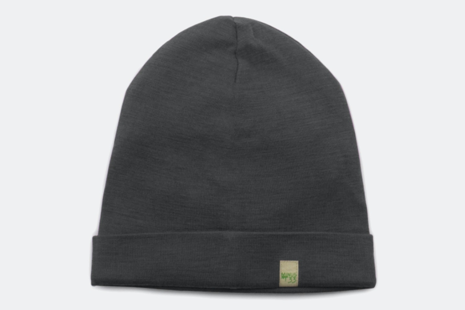 Ridge Cuff Beanie – Charcoal Grey