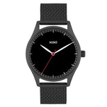 Black dial/mesh strap with black case (+$10)