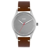 Grey dial/chocolate strap