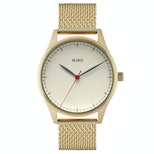 Creme dial/gold mesh strap with gold case (+$10)