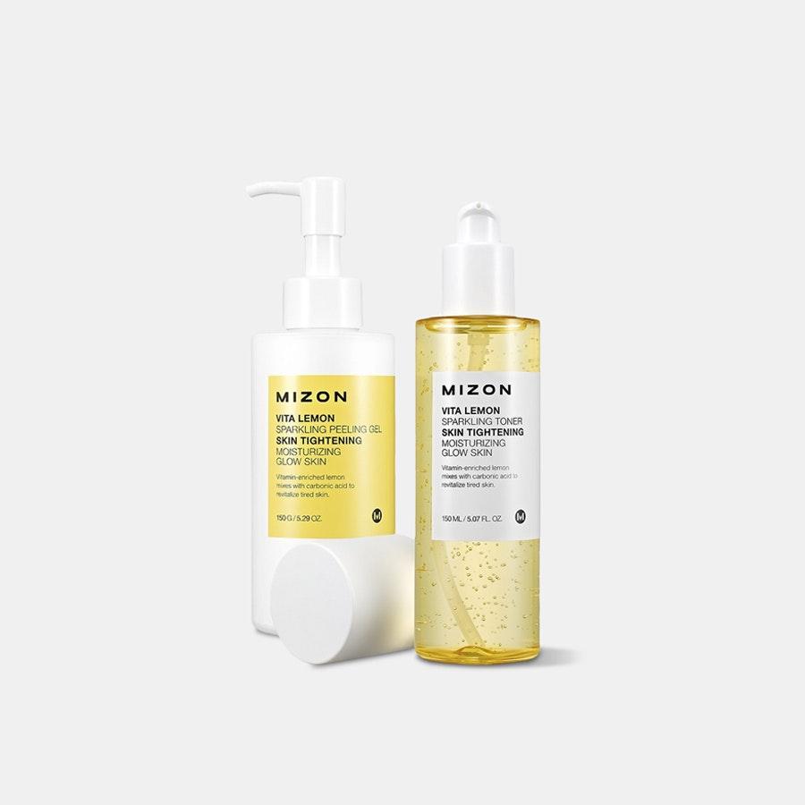 Mizon Vita Lemon Sparkling Toner & Peeling Gel Set