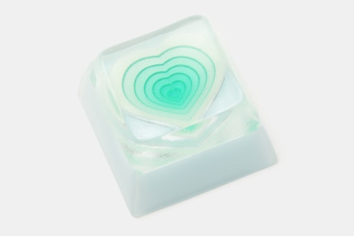 MMCAPs Colored Hearts Resin Keycap