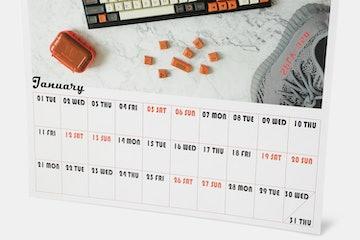 MNI Mechanical Keyboard 2019 Calendar