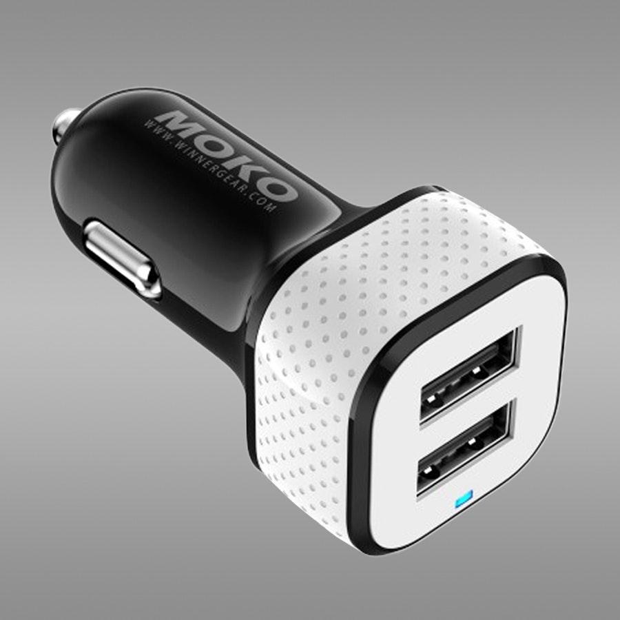 MOKO  Car Charger 4.8A Dual USB -Smart IC