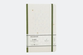 Green cover with ruled paper