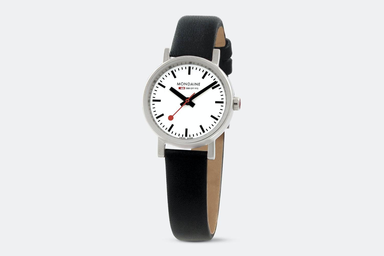A658.30301.11SBB – White Dial, Black Leather Strap
