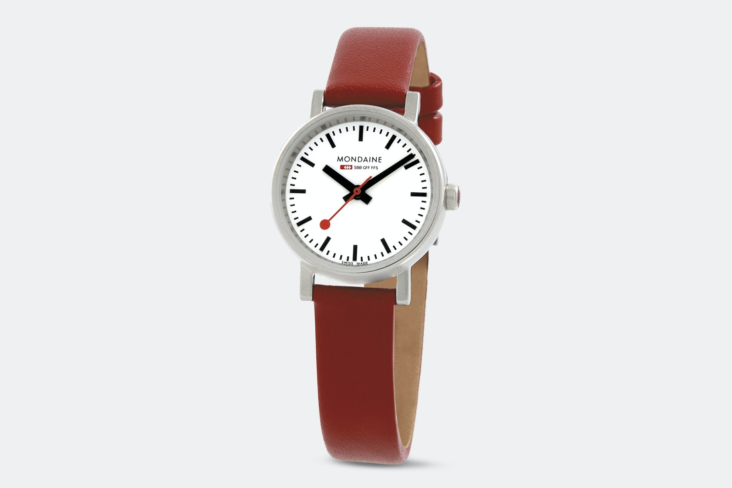 A658.30301.11SBC – White Dial, Red Leather Strap