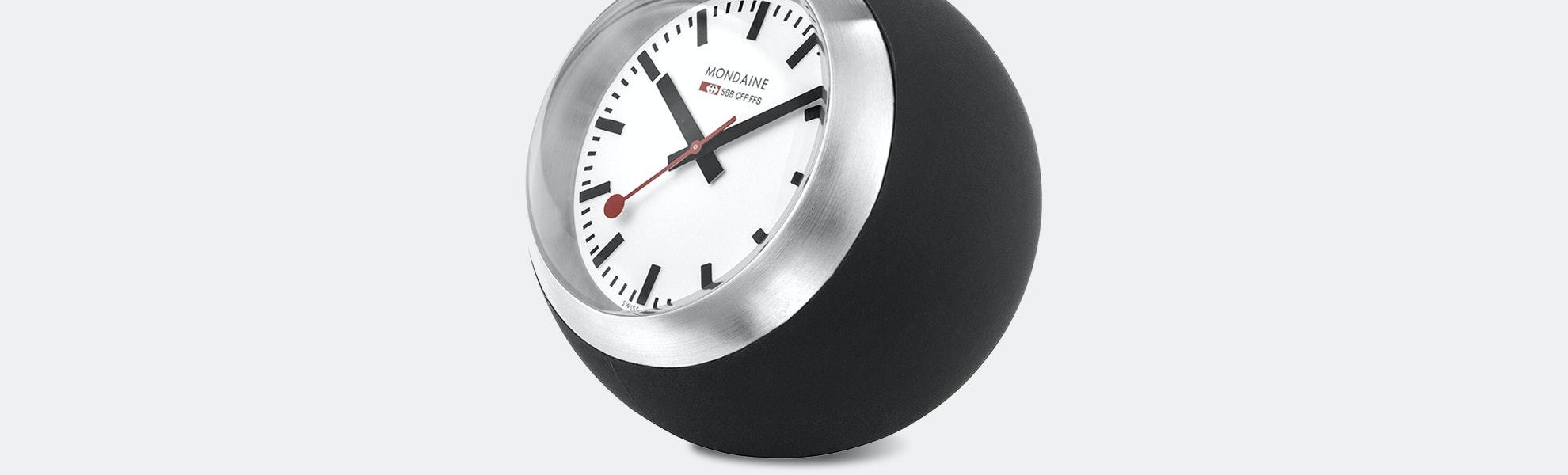 Mondaine Globe Desk Clock