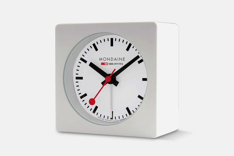 Mondaine Square Desk Alarm Clock