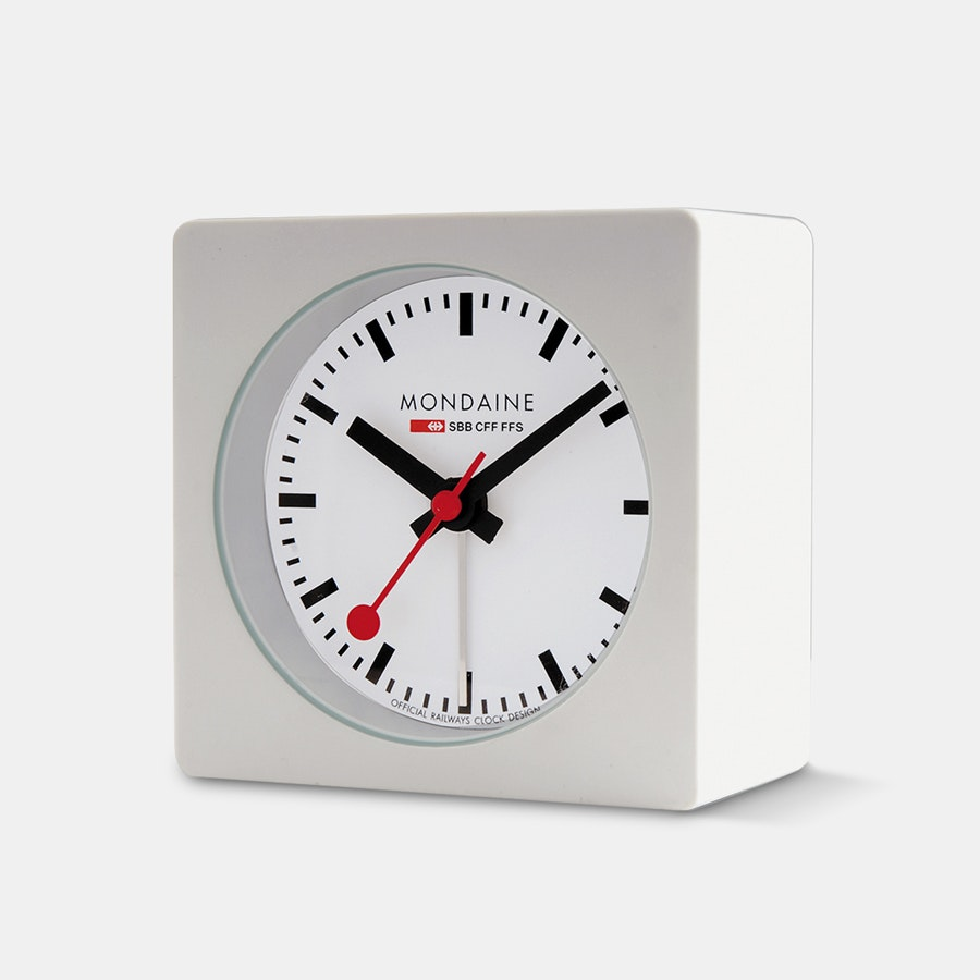 Mondaine Square Desk Alarm Clock