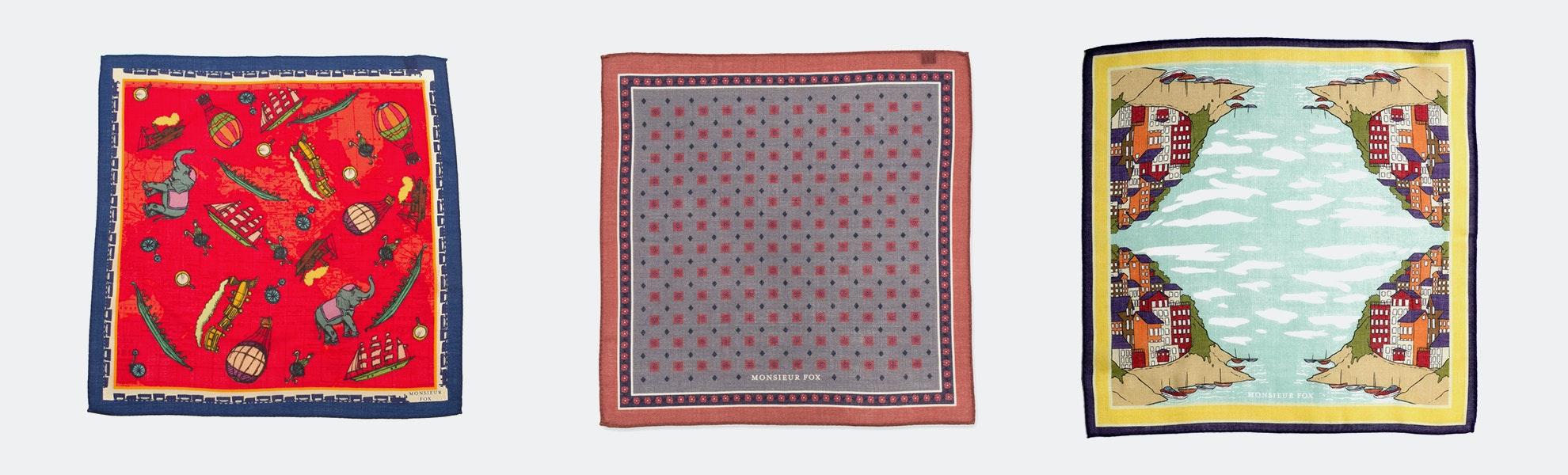 Monsieur Fox Pocket Squares & Scarves