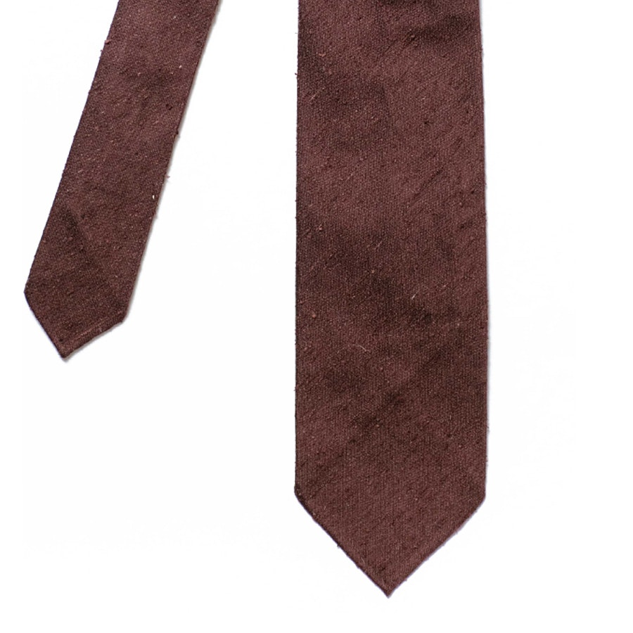 Silk Shantung - Brown