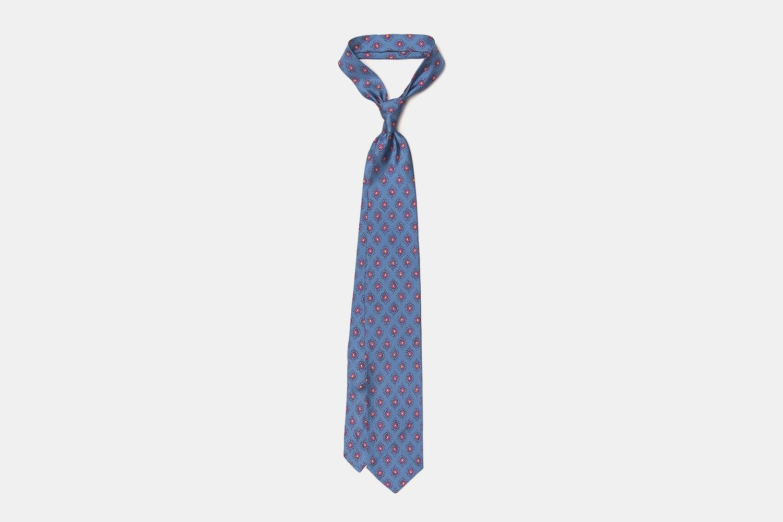 Artisan Silk Tie - Blue Rose