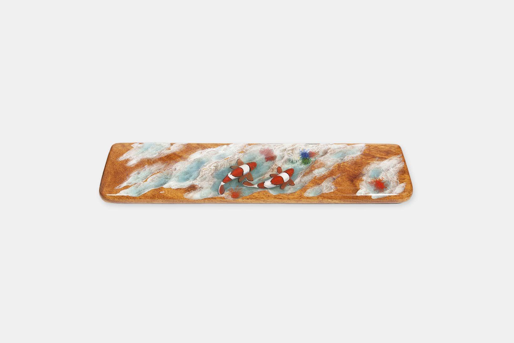 Moon Key Hand-Painted Clownfish Artisan Wrist Rest - TKL