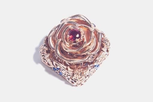 Moon Key Luxurious Metal Rose Artisan Keycap