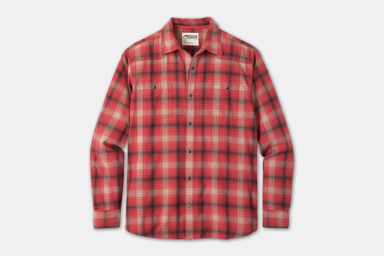 Saloon Flannel Shirt - Engine Red Plaid (+$5)