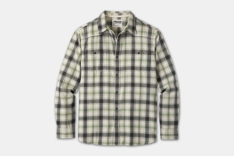 Saloon Flannel Shirt - Cream Plaid (+$5)
