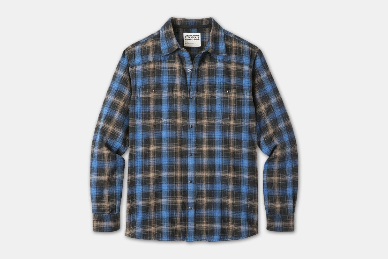 Saloon Flannel Shirt - Black Plaid (+$5)