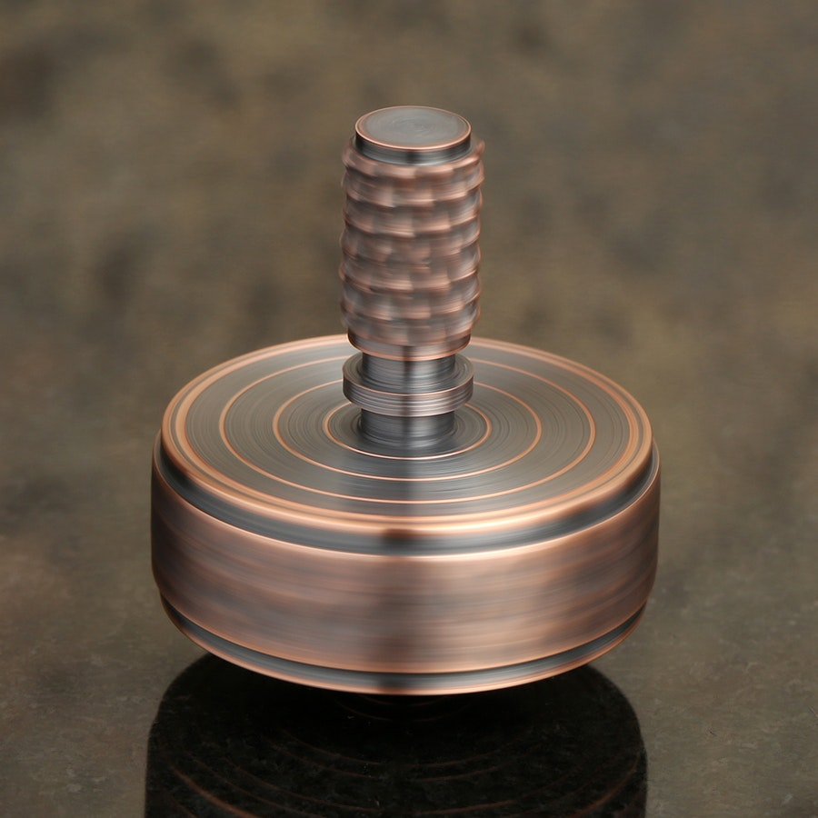 MountainTops Hammered Copper Spinning Top