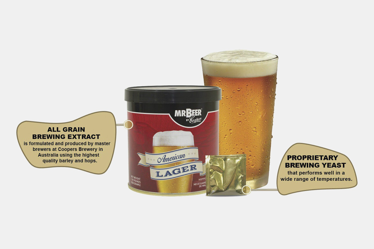 Mr. Beer American Lager Complete Brewing Kit
