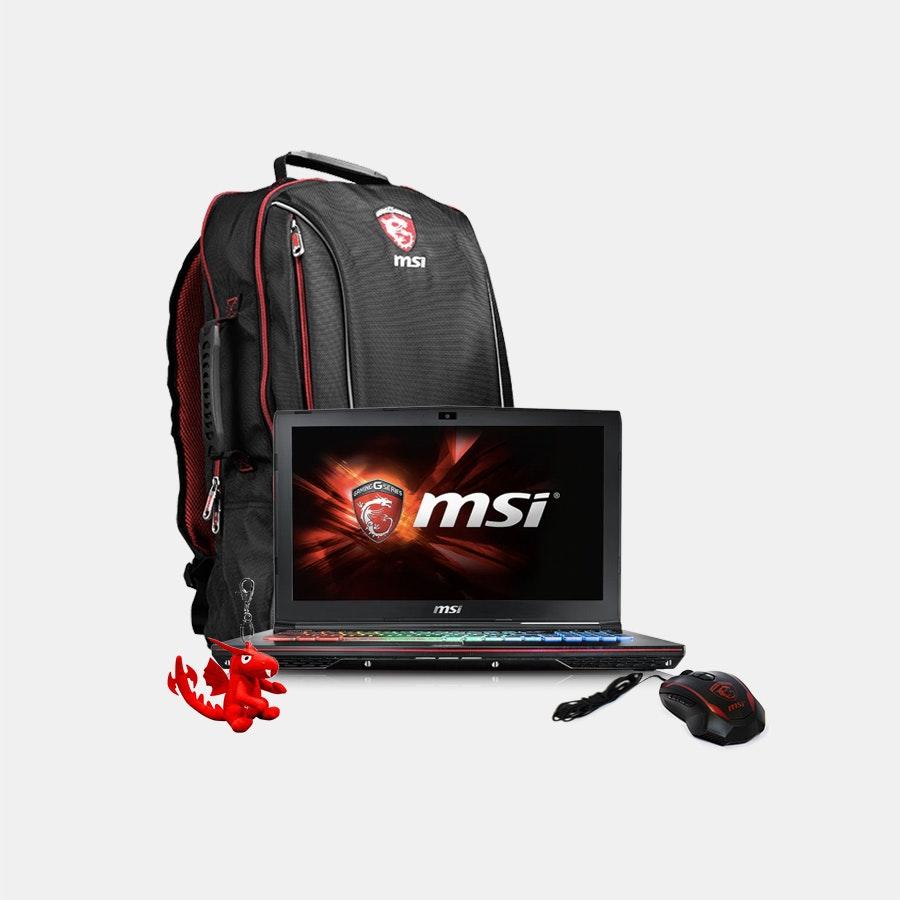 MSI GE62VR Apache Pro-650 Gaming Laptop Bundle