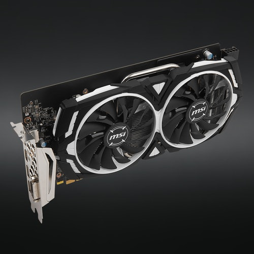 MSI Geforce GTX 1060 Armor 6G OC   Price & Reviews   Drop